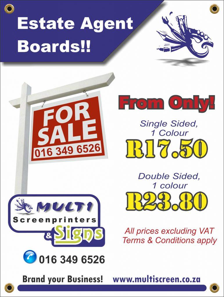 Multi Screenprinters - Estate Agent Boards